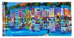 Shores Of Italy Hand Towel by Scott D Van Osdol