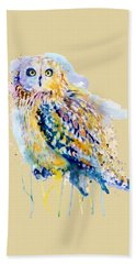 Short Eared Owl  Bath Towel