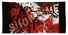 Bath Towel featuring the painting Showtime At The Madhouse by Melissa Goodrich