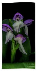 Hand Towel featuring the photograph Showy Orchis by Barbara Bowen