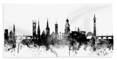 Shrewsbury England Skyline Bath Towel