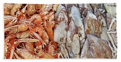 Shrimp And Squid - Port Santo Stefano, Italy Hand Towel