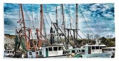 Shrimp Boats Hand Towel