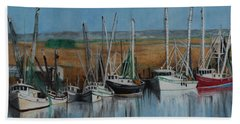 Shrimp Boats Of Darien, Ga Hand Towel