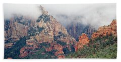 Hand Towel featuring the photograph Shrouded In Clouds by Phyllis Denton