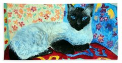 Siamese Cat Hand Towel