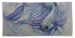 Beta Siamese Fighting Fish Hand Towel
