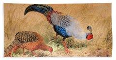 Siamese Pheasant  Hand Towel