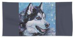 Siberian Husky Bath Towel