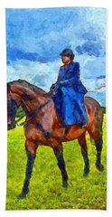 Hand Towel featuring the photograph Side Saddle by Scott Carruthers
