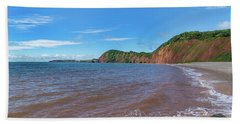Bath Towel featuring the photograph Sidmouth Jurassic Coast by Scott Carruthers