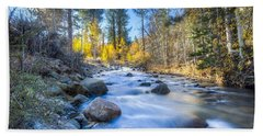 Sierra Mountain Stream Bath Towel