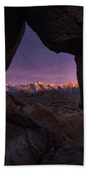 Hand Towel featuring the photograph Sierra Nevada Moon by Dustin LeFevre
