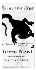 Sierra Newt - Black Hand Towel
