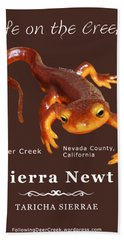 Sierra Newt - Color Newt - White Text Bath Towel