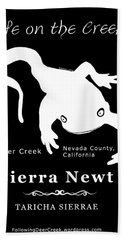 Sierra Newt - White Bath Towel
