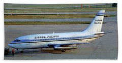 Sierra Pacific Airlines Boeing 737, N703s Bath Towel