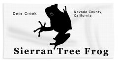 Sierran Tree Frog - Black Graphics Bath Towel