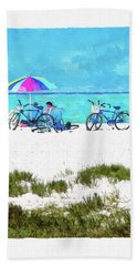 Siesta Key Beach Bikes Bath Towel