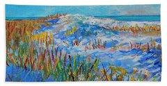 Siesta Key Sand Dune Bath Towel by Lou Ann Bagnall