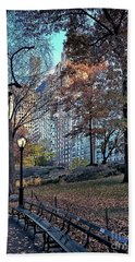 Hand Towel featuring the photograph Sights In New York City - Central Park by Walt Foegelle