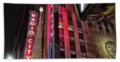 Sights In New York City - Radio City Bath Towel