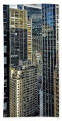 Bath Towel featuring the photograph Sights In New York City - Skyscrapers Shot From Skyscraper by Walt Foegelle