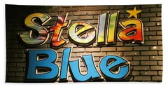 Sign Of Stella Blue Bath Towel