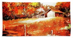 Signs Of Autumn Hand Towel
