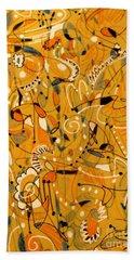 Signs Written In Big Print Bath Towel by Nancy Kane Chapman