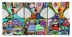 Silberzweig Day Of The Dead Rainbow Angels Hand Towel