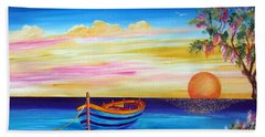 Silence And Tranquility At Sunset Bath Towel