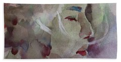 Bath Towel featuring the painting Wcp 1701 Silence by Becky Kim
