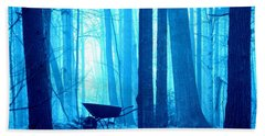 Bath Towel featuring the photograph Silent Forest by Al Fritz