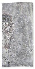 Bath Towel featuring the photograph Silent Snowfall Portrait by Everet Regal