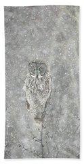 Silent Snowfall Portrait II Hand Towel