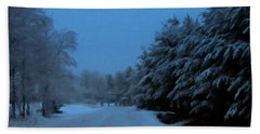 Bath Towel featuring the photograph Silent Winter Night  by David Dehner