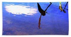 Silhouette Aquatic Fish Hand Towel