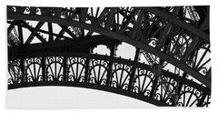 Bath Towel featuring the photograph Silhouette - Paris, France by Melanie Alexandra Price