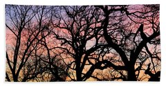 Hand Towel featuring the photograph Silhouettes At Sunset by Chris Berry