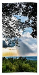 Bath Towel featuring the photograph Silhouettes At The Overlook by Shelby Young