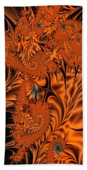Silk In Orange Hand Towel by Ron Bissett