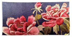 Silk Peonies - Kimono Series Bath Towel
