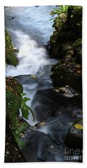 Hand Towel featuring the photograph Silky Falls by Baggieoldboy