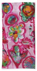 Silly Flowers Hand Towel