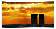 Silos At Sunset Bath Towel