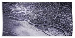 Silver Brook In Winter Hand Towel