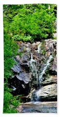 Hand Towel featuring the photograph Silver Cascade by Barbara S Nickerson