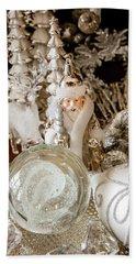 Silver Christmas Hand Towel