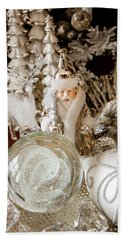 Silver Christmas Bath Towel